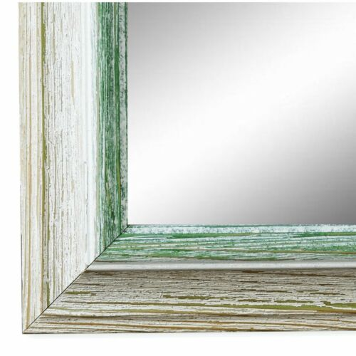 Spiegel Wandspiegel Bad Flur Holz Vintage Retro Bari Beige Grün 4,4 NEU