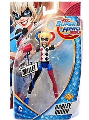 "New DC SUPER HERO GIRLS HARLEY QUINN Includes MALLET 6"" Figure"