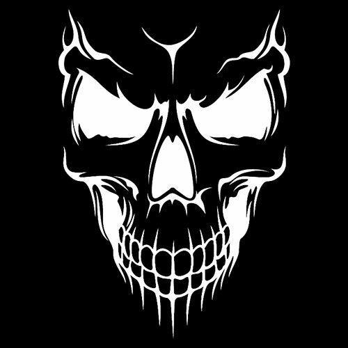 Die Cut Vinyl Decal Gothic Skull Head Bones DIY 20 Colors Car Truck ATV #86