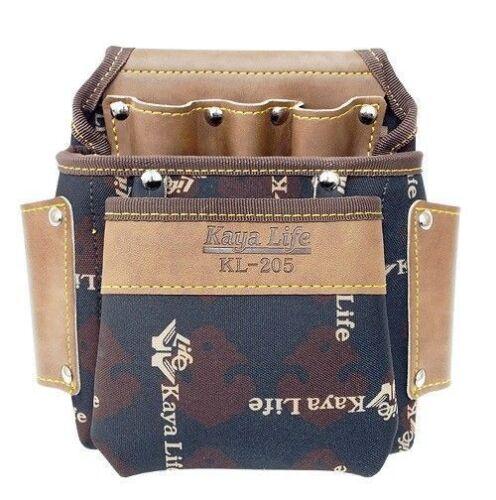 KAYA 2 Size Versatile Multi Purpose Mini Tool Holder Pockets Pouch Leather/_nV
