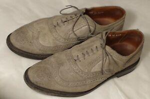 Wingtip Oxford dress shoe in Grey Waxed