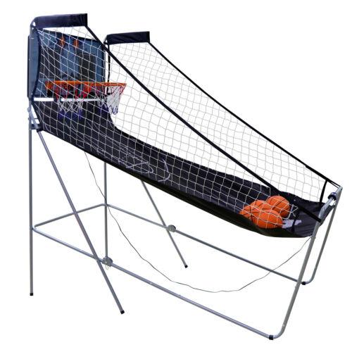 Indoor Basketball Arcade Game Double Electronic Hoops shot 2 Player W// 4 Balls