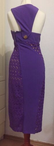 4 Eur Silk Purple H Versace Midi 8 Lilac Dress Size Us Silk 34 Abito M Uk For wHvvcq61