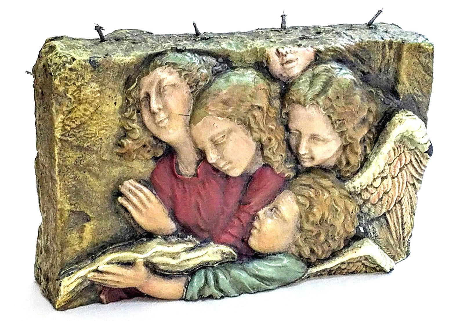 Candle Angels Large Home Decor Holiday Renaissance Bas Relief Sculpture  RARE