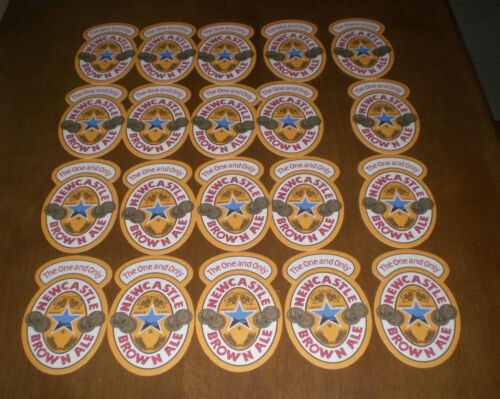 20 NEW CASTLE BROWN ALE BEER COASTERS VINTAGE