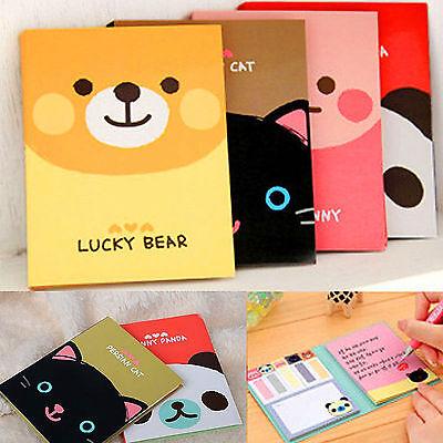 1Pc Portable Cute Cartoon Kraft Paper Notepad Memo Diary Notebook Exercise Book