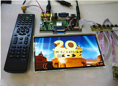 "HD 7"" Inch 1280×800 LCD Panel +2AV+VGA+HDMI+USB Reversing Driver Board Car Kit"