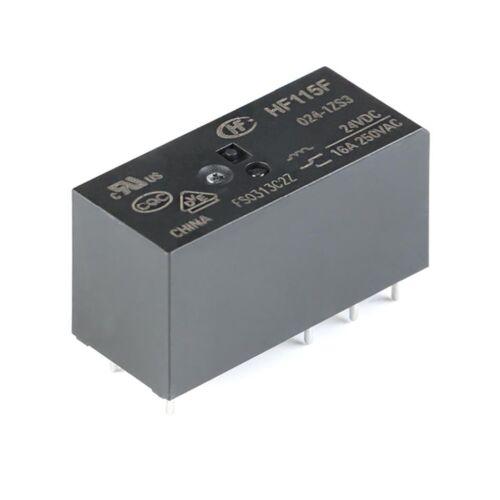 005 012 024-1ZS3 16A 8-Pin 5V 12V 24V//DC Hongfa Relays HF115F-JQX-115F