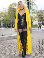 Ledermantel Leder Mantel Gelb Bodenlang Figurbetont Maßanfertigung