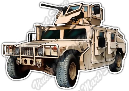Humvee US Army Tank Military Hummer Vehicle Car Bumper Vinyl Sticker Decal  5