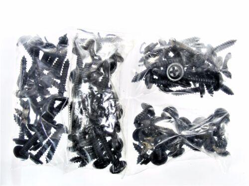 "100 screws #326 1//2/"" to 1-1//4/"" Long GM Black #10 Phillips Flat Top Trim Screws"