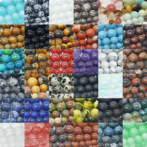 Natural Gemstone Beads Round Loose 4mm 6mm 8mm 10mm 12mm 15 5 Strand