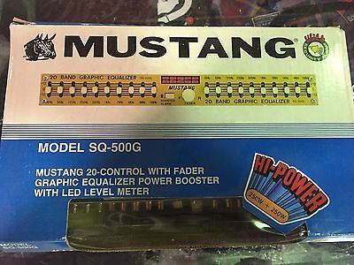 New 20 band Graphic Equalizer Mustang sq-500g Old School Gold EQ Hi-Power