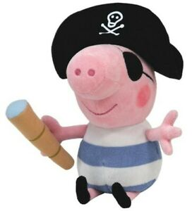 Ensoleillé Ty Peppa Large 25 Cm Beppa Wutz, Georg Pirate Animal En Peluche Peluche-afficher Le Titre D'origine