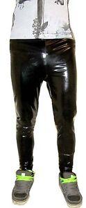 Black Ultra Shiny Glossy Glanz Wet Look Sleeveless Vest Top S M L Xl 2XL 3XL