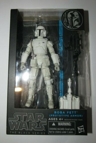 Star Wars Black 6 inch Boba Fett Prototype Armor Blue Line AUTHENTIC NEW figure
