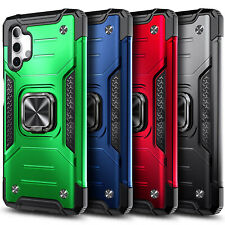 For Samsung Galaxy A32 5G Case Shockproof Ring Kickstand Cover + Tempered Glass