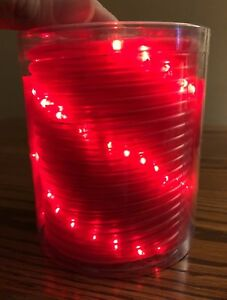 Micro mini red led rope lights 18 ft length 67 lights new in image is loading micro mini red led rope lights 18 ft aloadofball