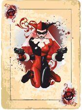 2 x Harley Quinn Card Ace Sticker Decal Motorbike Helmet Boards iPad Tank Batman