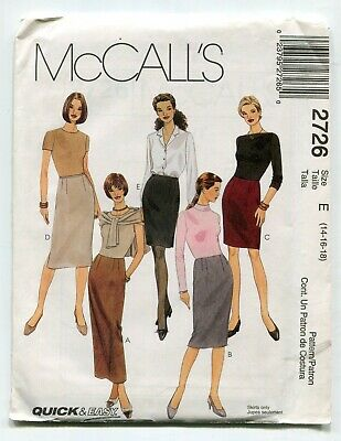 Shirt 5 Projects Size 14-20 Uncut Pants Simplicity Pattern 9158 Misses Skirt