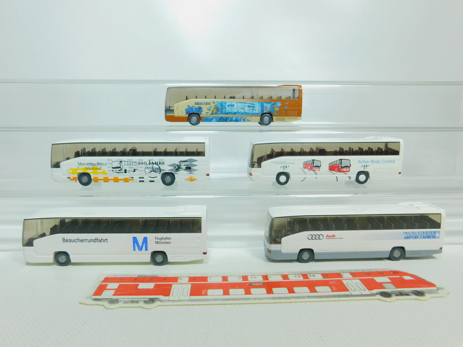 BO787-0,5 x Wiking H0 1 87 Autobus MB o 404 Rhd   Body Control + Monaco Ecc.
