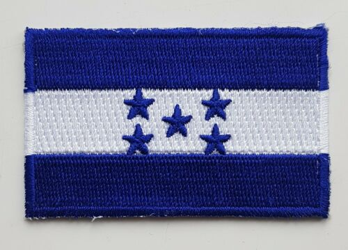 HONDURAS FLAG PATCH Embroidered Badge Iron or Sew on 3.8cm x 6cm Central America