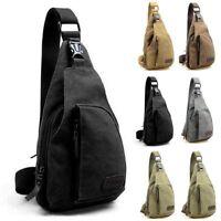 Mens Military Canvas Satchel Shoulder Bag Travel Hiking Backpack Messenger Bag 6