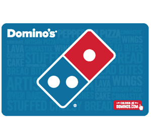 Buy a 25 Dominos Gift Card for 20 Fast Email Delivery