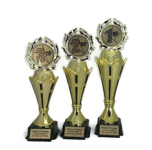 Trophies-3-Piece-Set-1st-2nd-3rd-Place-Sport-Team-Event-Free-Lettering