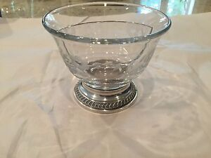 VINTAGE DEVIDED CRYSTAL AND STERLING SILVER DISH