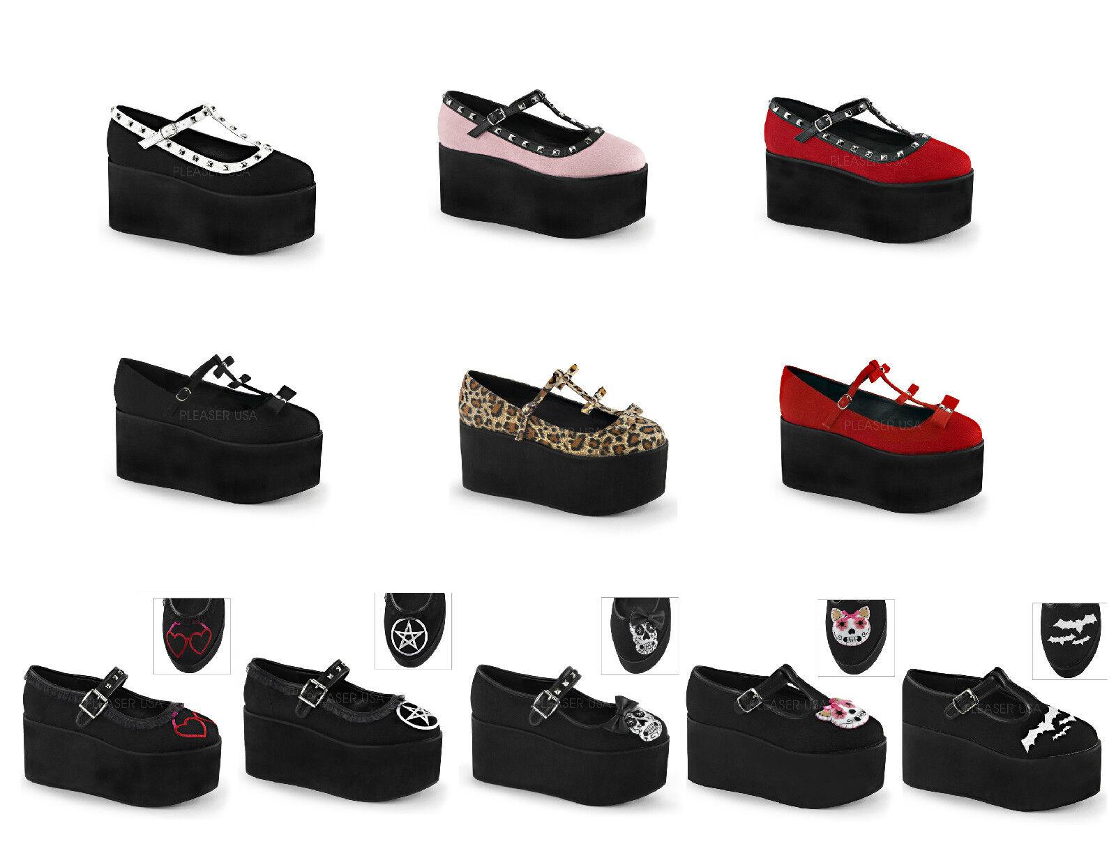 Demonia Cliquez Femme 3 1 4  Chaussures Compensées