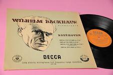 WILHELM BACKHAUS LP BEETHOVEN SONATE 13 14 19 20 ORIG UK EX+ DECCA ORANGE LABEL