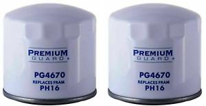 Engine Oil Filter-Standard Life Premium Guard PG4670 Replaces Fram PH16 Lot Of 2