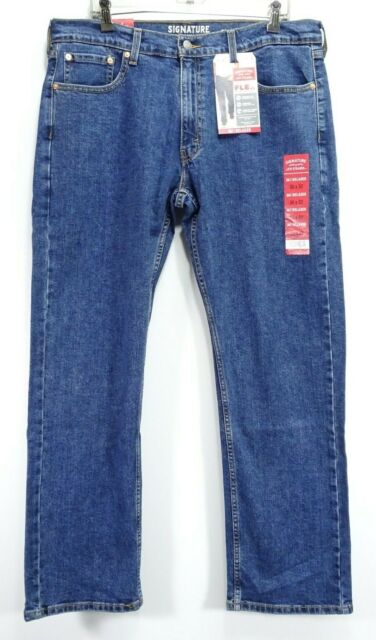 New Signature By Levis Mens S61 Modern Relaxed Stretch Denim Jeans 36 x 32