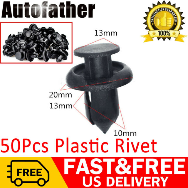 50x Door Tirm Panel Fender Bumper Retainers Clips for Chevrolet Ford Nissan Jeep