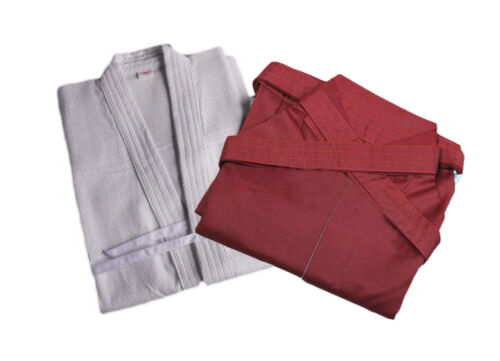 ZooBoo Mens Kendo Coat Hakama Martial Arts Uniform Swordplay Kung Fu Suit