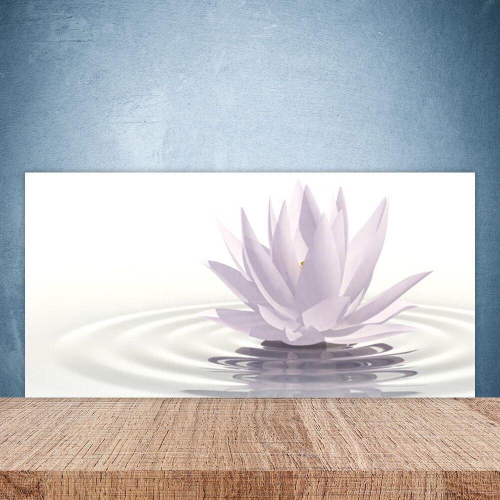 Crédence de cuisine en verre Panneau Paroi 100x50 Art Fleur Eau