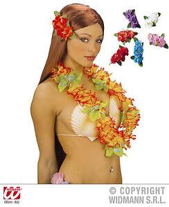 HAWAI-flores-Enganche-pelo-pasador-hibisco-naranja-rojo-blanco-fucsia