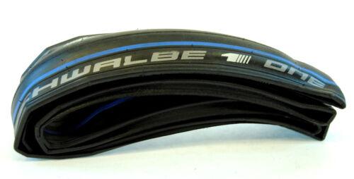 "200g SCHWALBE /""ONE/"" 700x23c Road Bike Tire black//blue 145 PSI 23-622"