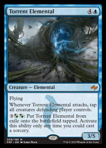 English -BFG- MTG Magic 4x Torrent Elemental Fate Reforged Near Mint x4