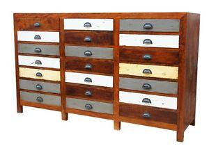 Antik anrichte hoch schrank kommode sideboard retro rustikal kirschbaumholz ebay - Kommode rustikal ...
