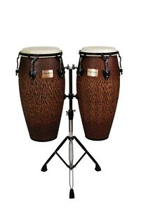 Tycoon-Percussion-10-034-amp-11-034-Supremo-Series-Conga-Set-Chiseled-Orange
