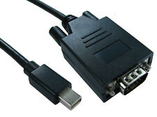 3m Mini DP Display Port Thunderbolt to VGA Cable Convertor MAC PC Monitor Lead
