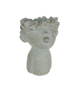 Pucker-Up-Junior-Kissing-Face-Weathered-Finish-Concrete-Head-Mini-Planter