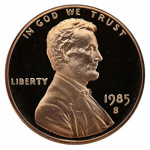 1985-S-Lincoln-Memorial-Cent-Penny-Gem-Proof-US-Mint-Coin-Uncirculated-UNC