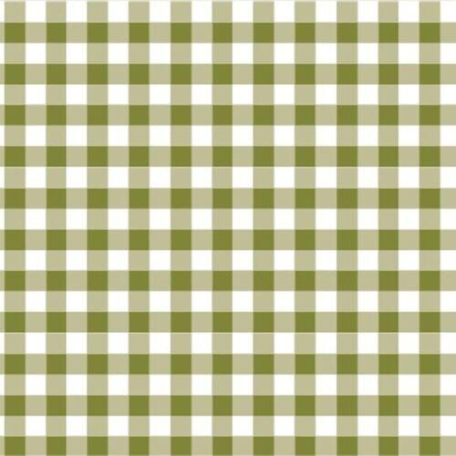 Cotton Classics Moss Green Gingham 9mm 100/% Cotton Fabric Nursery Patchwor