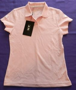 Size Small Climalite Camicia Womens New Polo Wh39 Adidas Top Rosa CC0q8v
