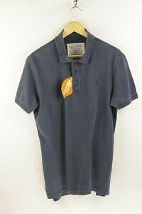 Lavado-Vintage-Camisa-Polo-para-hombre-Jack-Wills-Conectores-lugar-mangas-cortas-ajustado-mediano