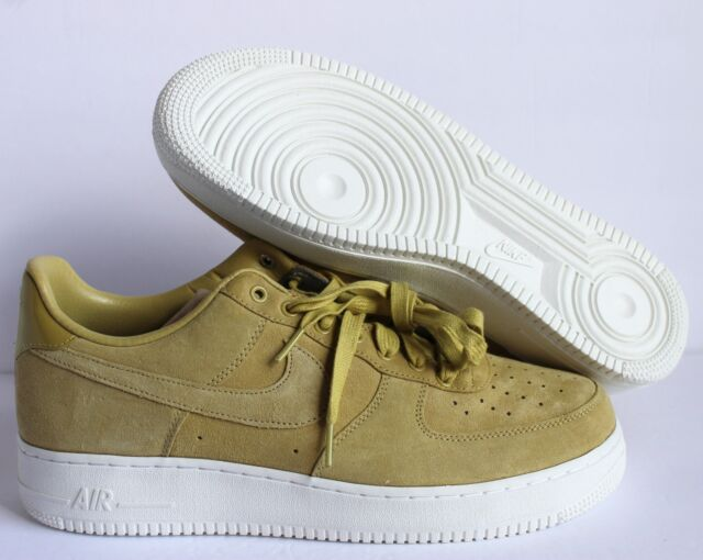 Nike Men Air Force One Low Suede ID Green White sz 12 [AQ3661 991]
