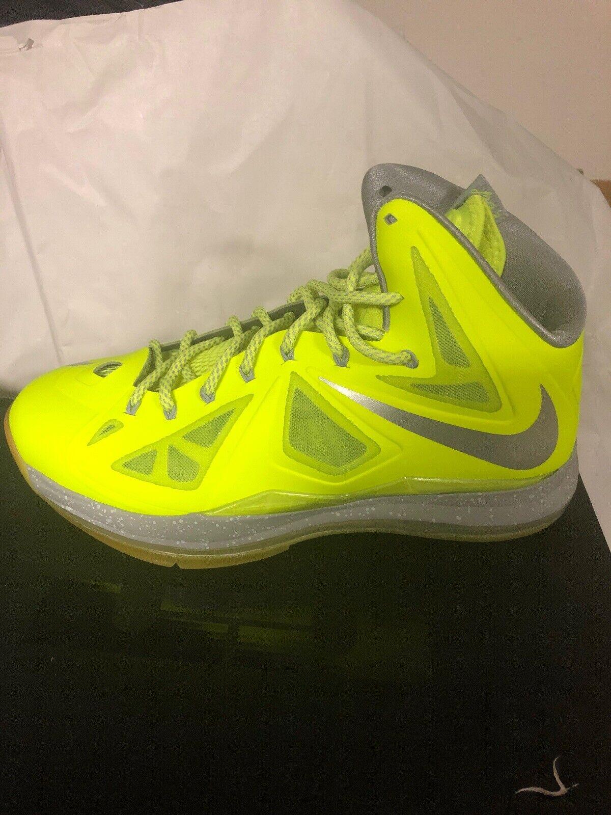 Nike Lebron X 10 Volt Size 11.5